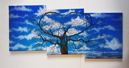 One Scenery on 3canvas boards