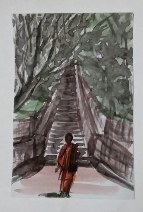 buddhist monk at mininthale