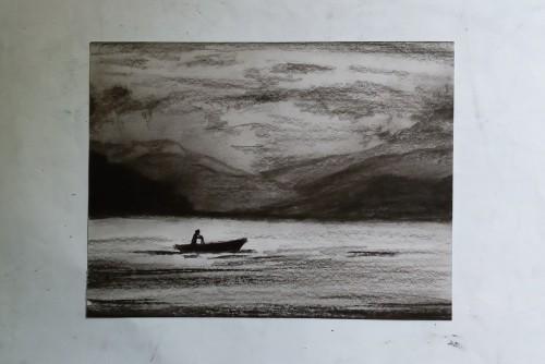 fishermen in the lake