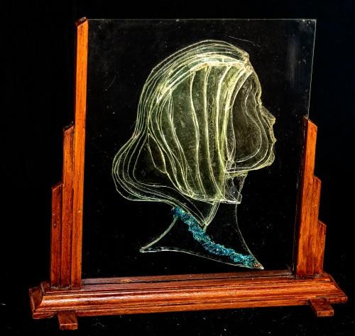 Laminated Glass Art - Woman