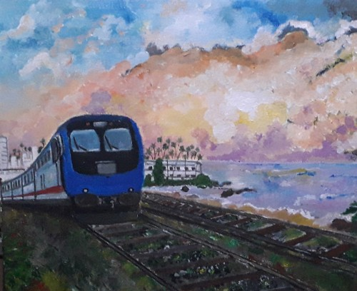 Coast Line Train  - Sri Lanka