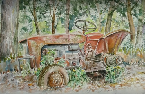 Tractor wreck