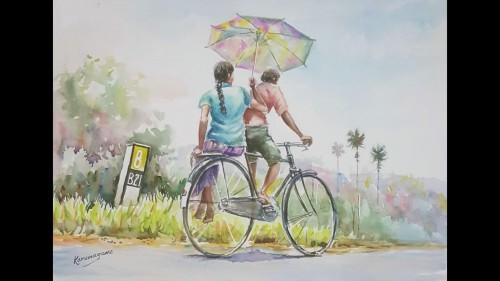 Shade on a bike