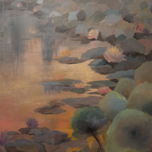 Water lilies in dusky waters 2