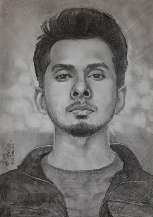 Portrait art of Dhanith Sri