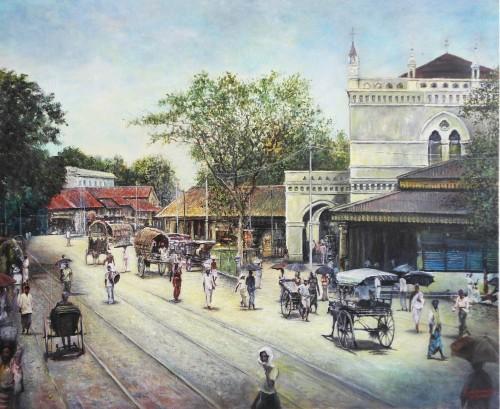 Main street Colombo Ceylon 1900s