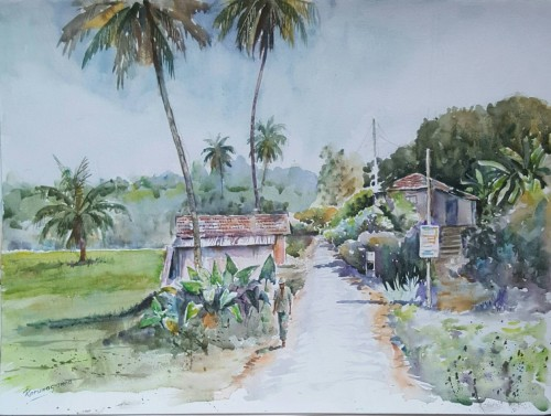 Landscape of a village