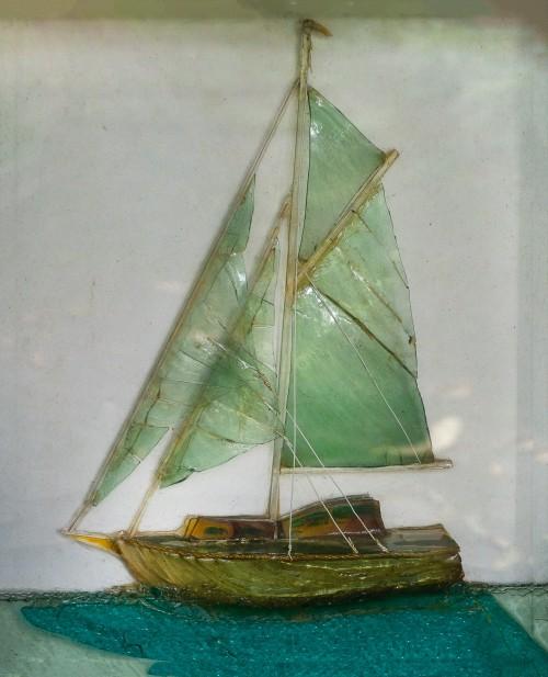 Laminated Glass Art - Ship