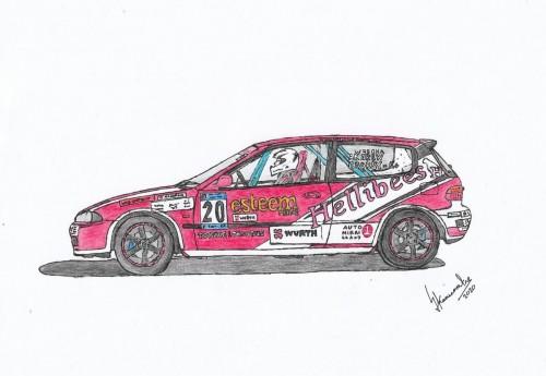 Hellibees EG6 Race Car
