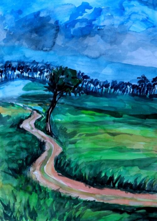 through the road