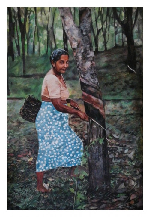 Rubber Tapping woman