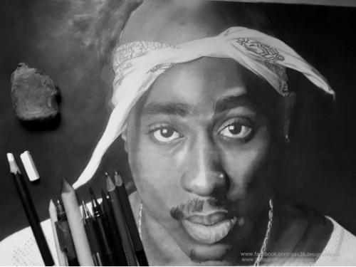 Portrait -Tupac Shakur