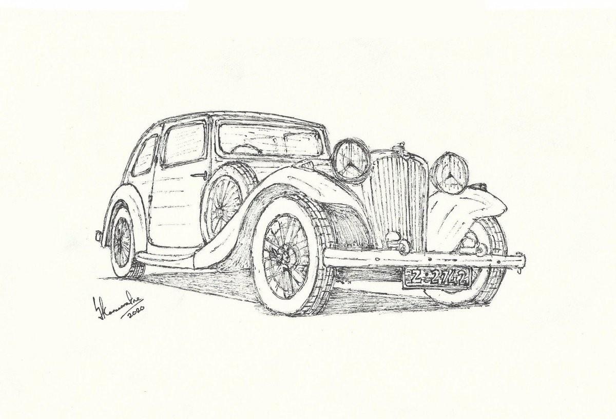 1935 Jaguar S.S. One by Lahiru Karunaratne