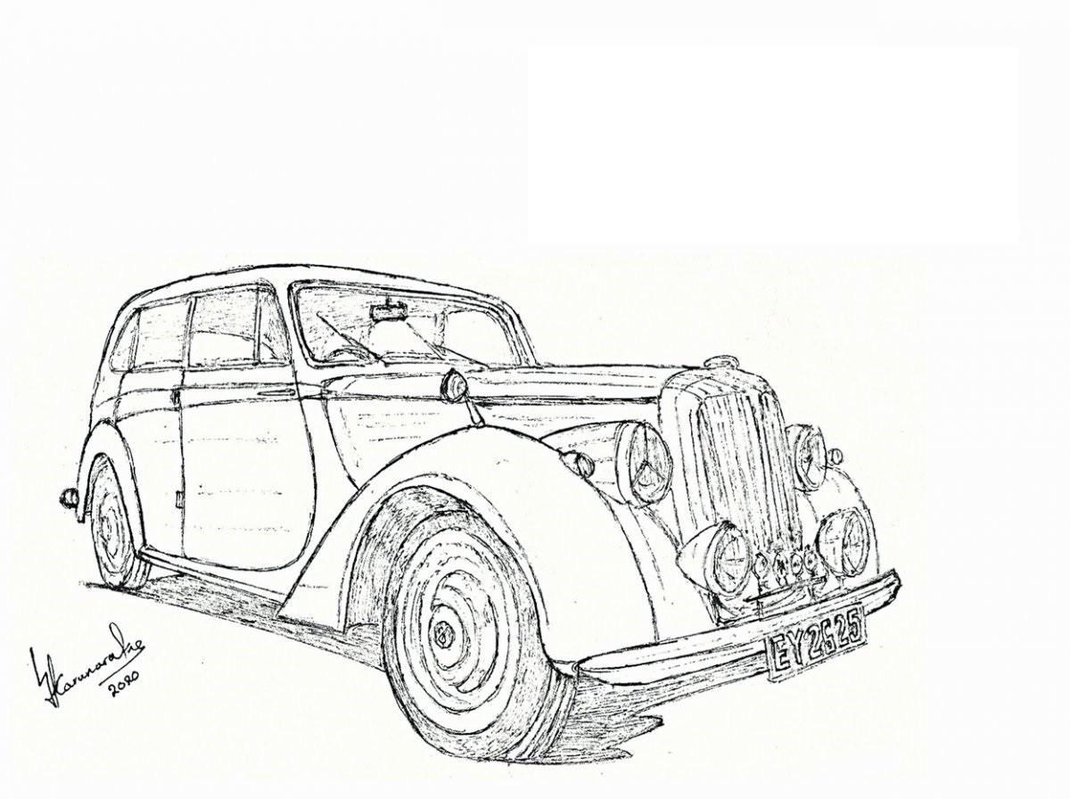 1952 Daimler DB18 Consort by Lahiru Karunaratne
