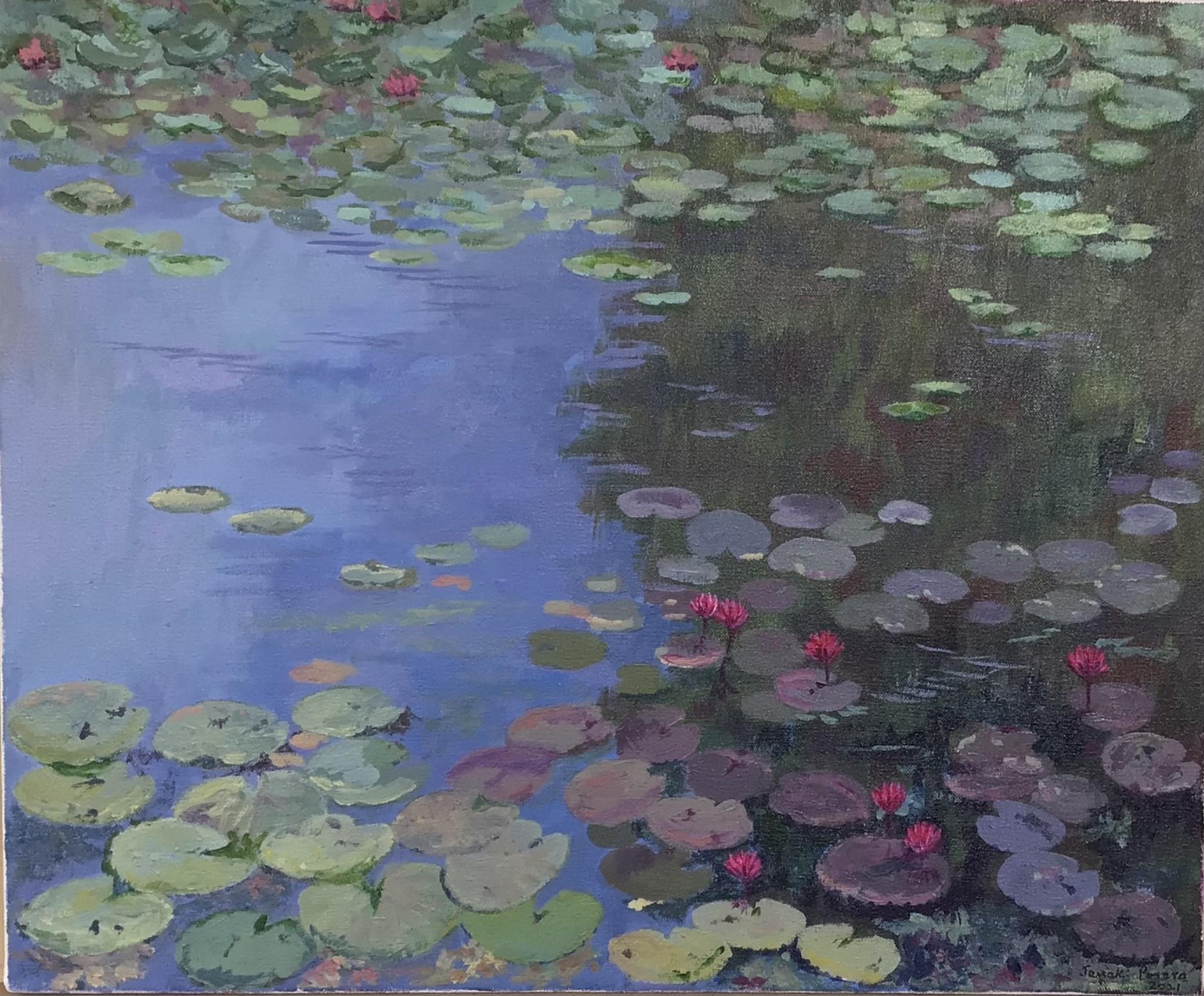 Lotus pond- Diyawanna Oya by Janaki Perera
