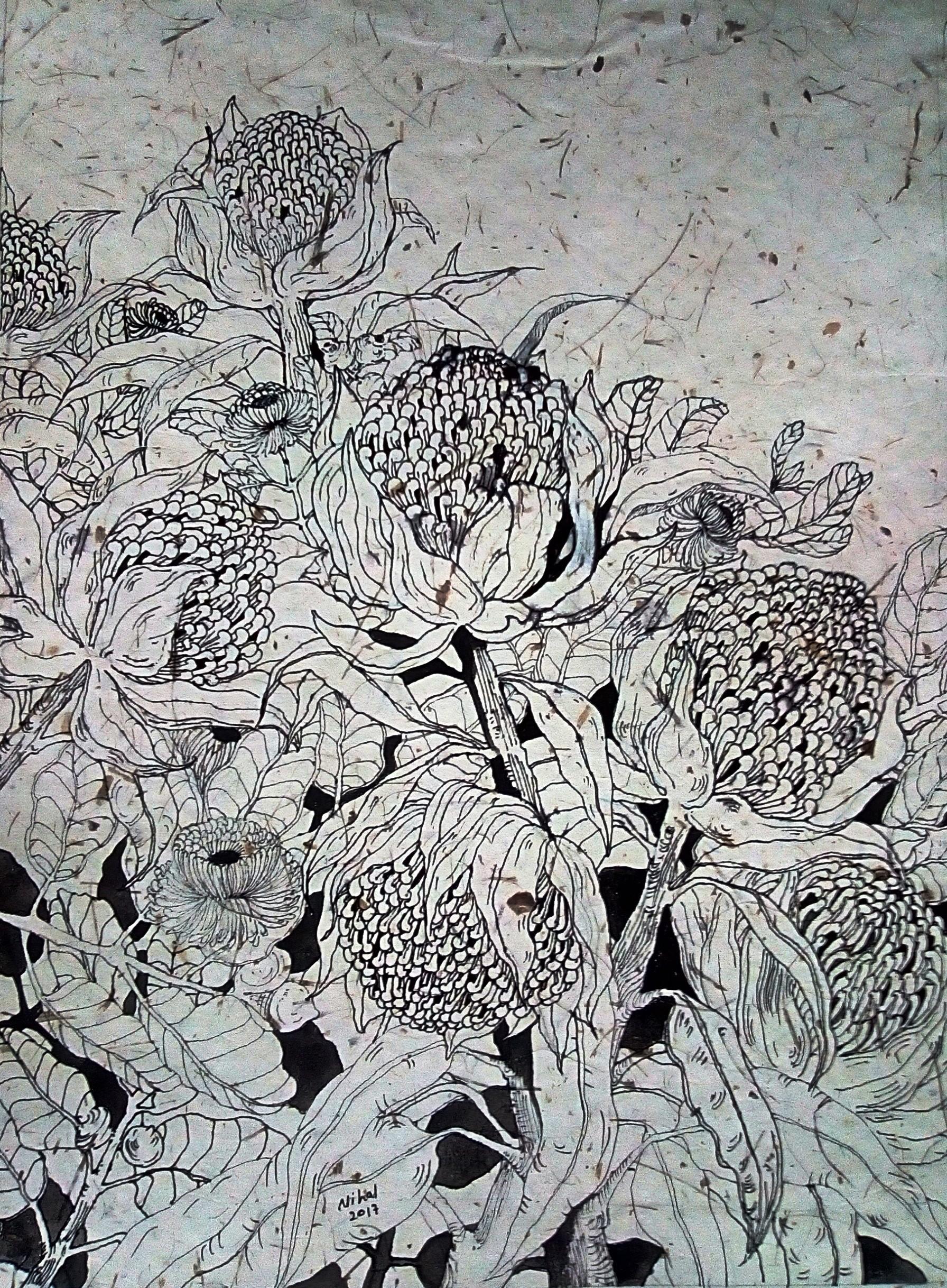 Pandanus trees by Nihal Senarathna