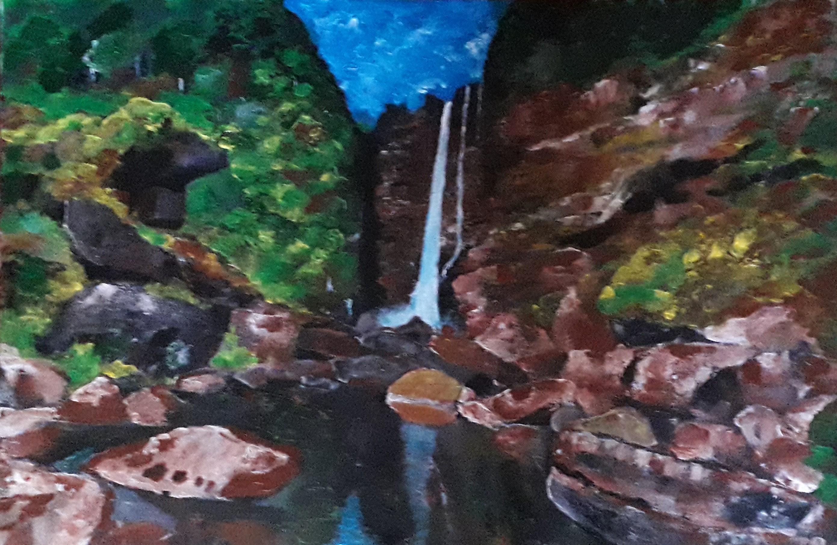 Laxapana Falls - Sri Lanka by Moses Simpson David