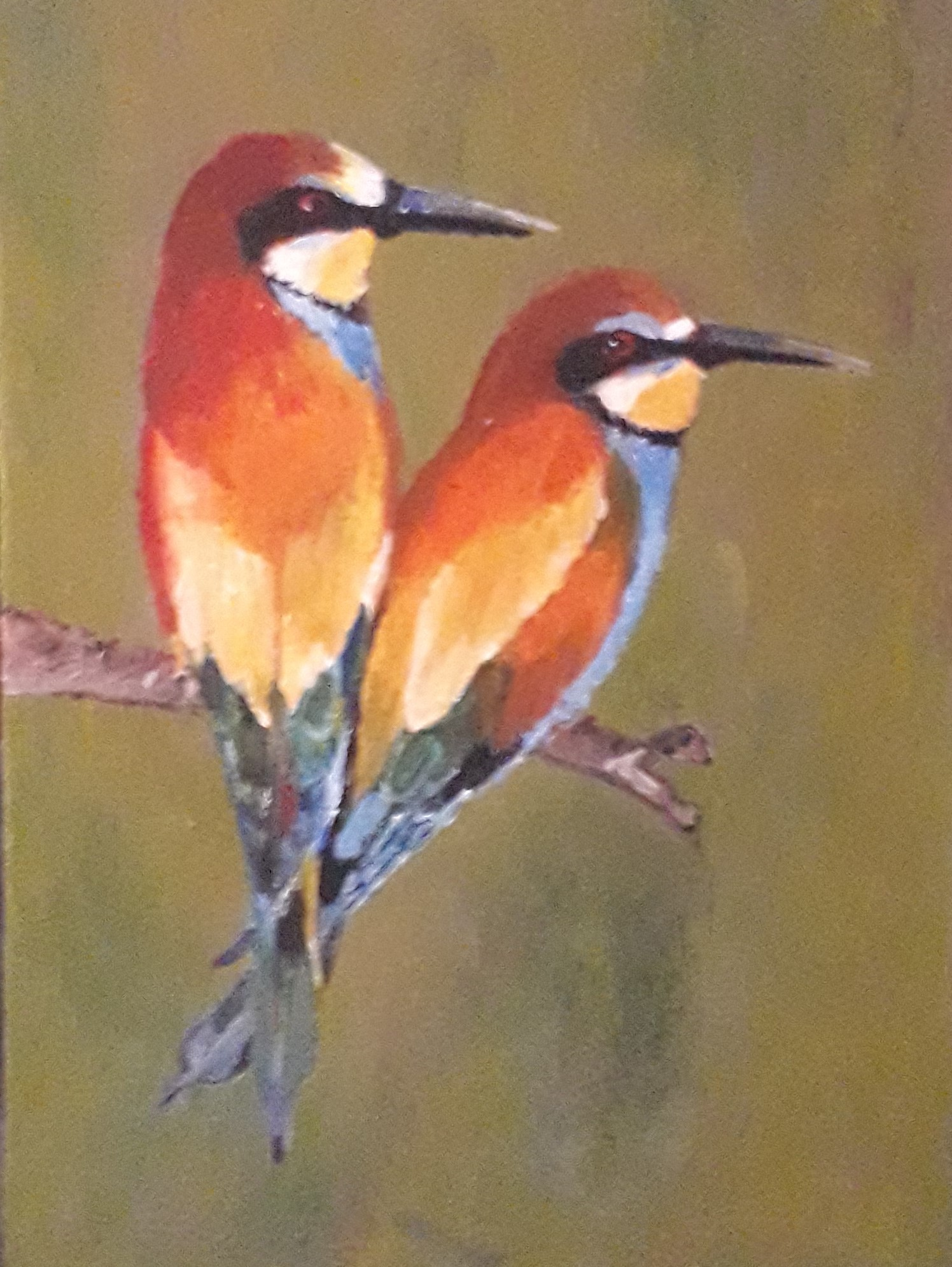 A Pair of Bee-eater by Simpson David