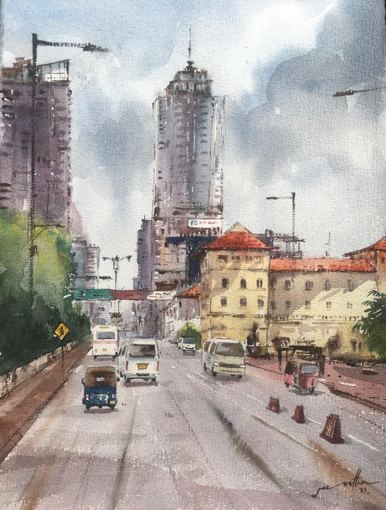 Front of Galle Face by Jeewantha Samarakoon