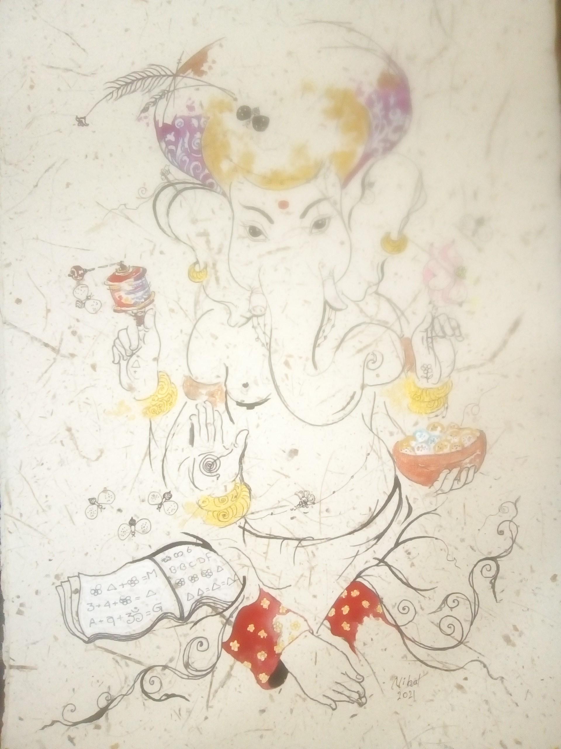 Lord ganesha by Nihal Senarathna
