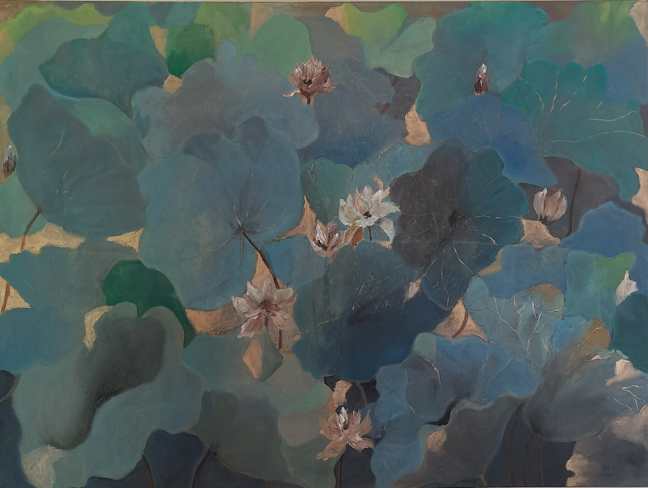 Shades of blue by Jean wijesekera