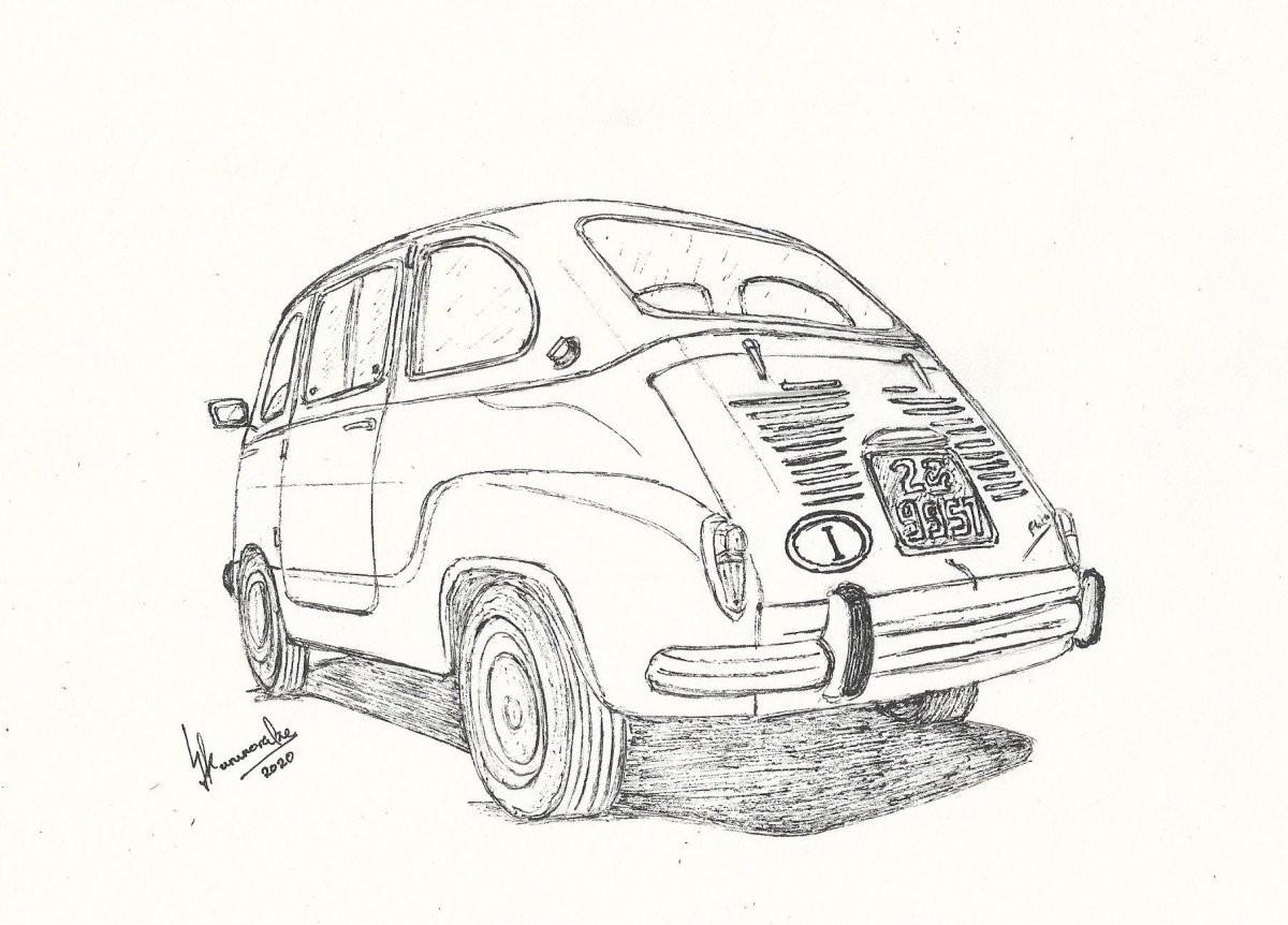 1959 Fiat 600 Multipla by Lahiru Karunaratne