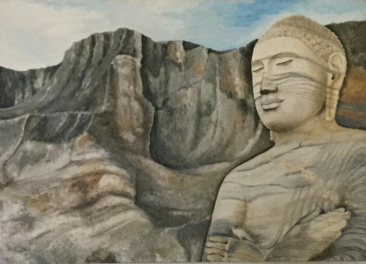Galviharaya Buddha by D.S.Kokila Dunumalage