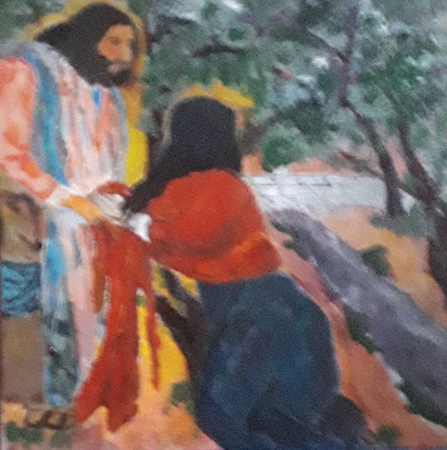 Jesus & Mary Magdalene by Moses Simpson David