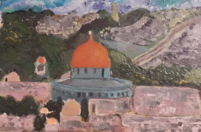 Temple in Jerusalem by Simpson David