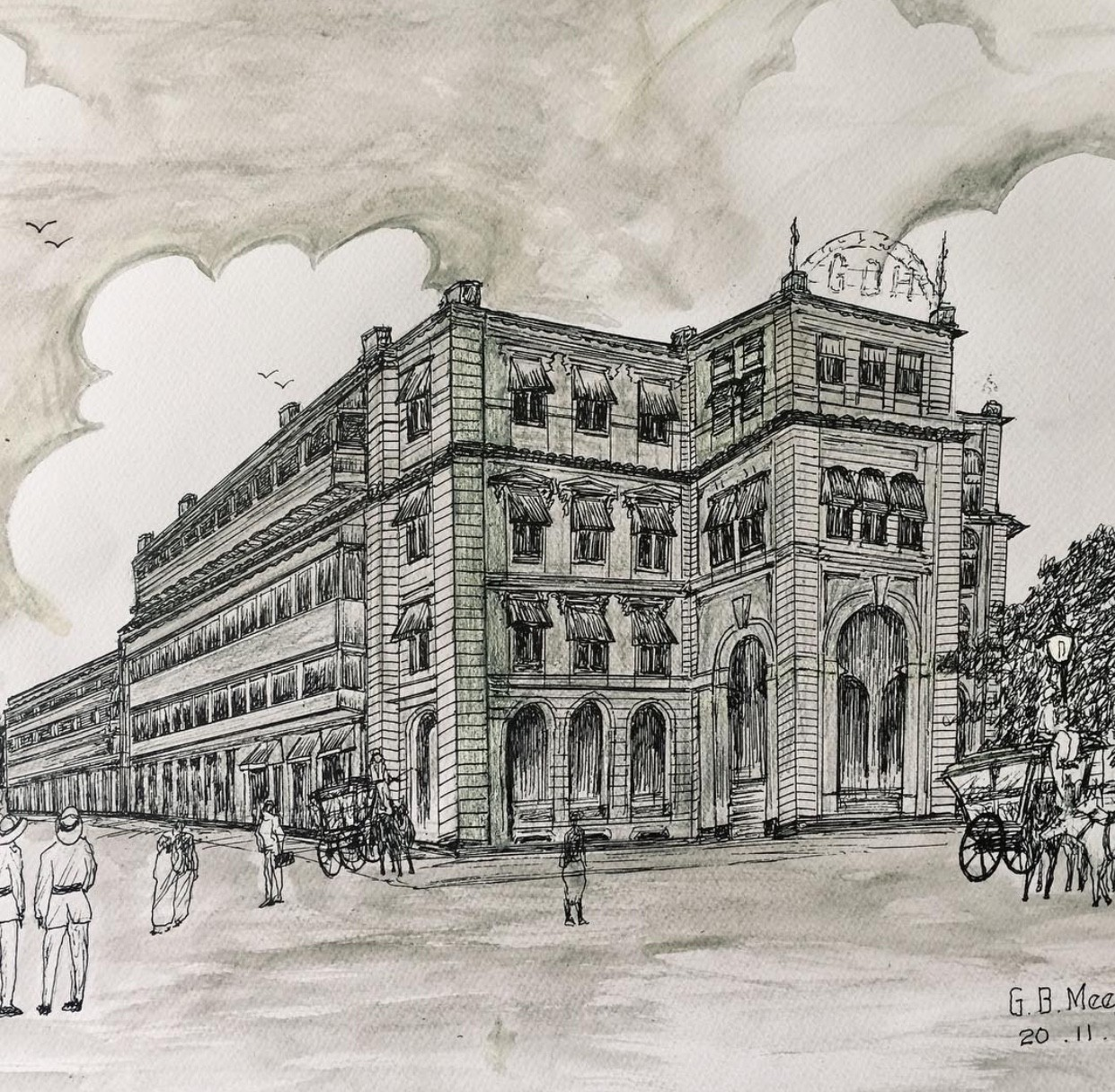 Old Buildings by Gamini Meegalla