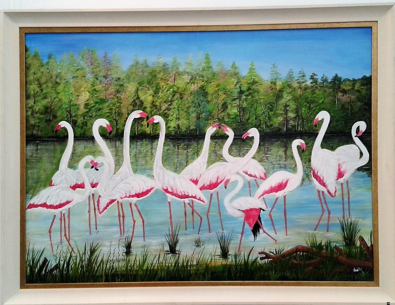 A Flamboyance of Flamingos by Iranganie Wickramasinghe