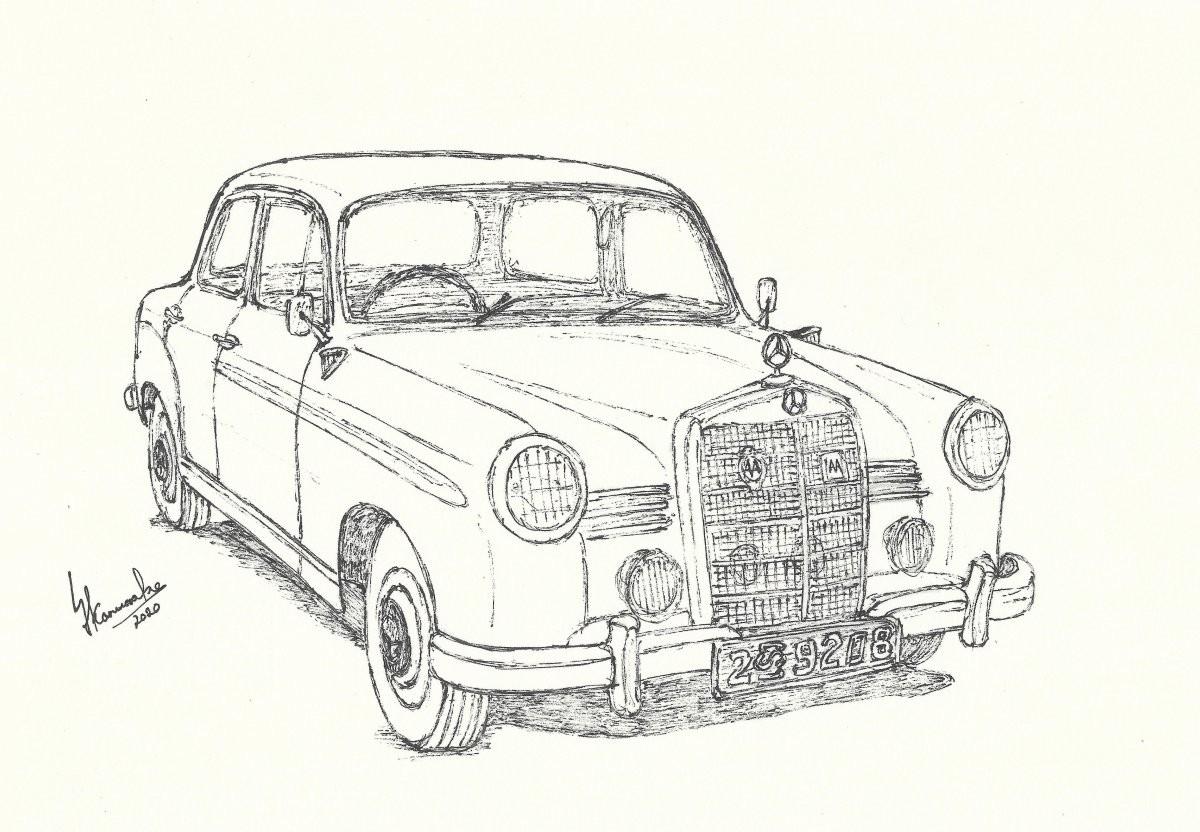 Mercedes-Benz 180 by Lahiru Karunaratne