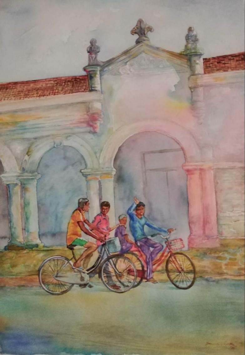 Jaffna Street 2 by Anura Dahanayaka