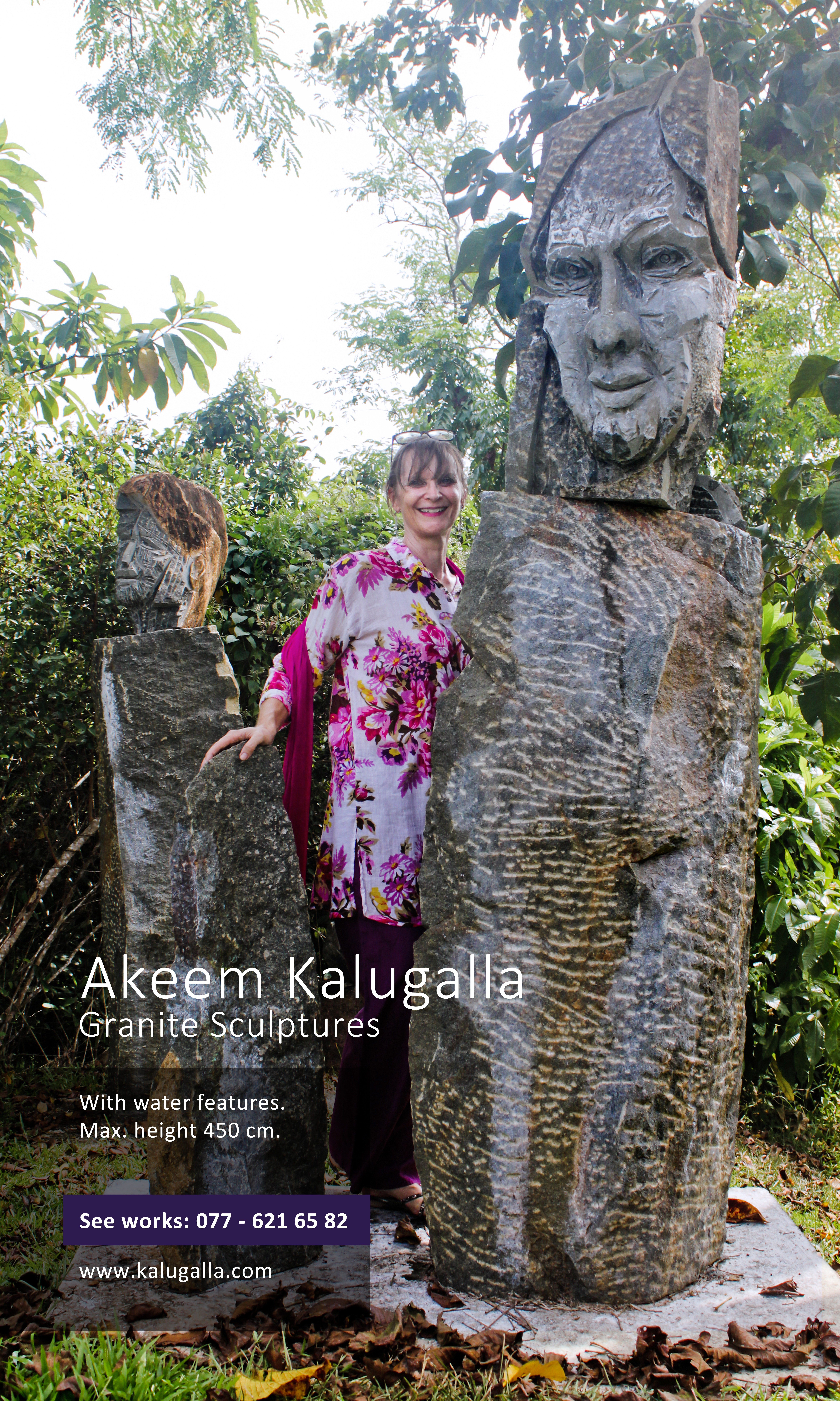 Woman with Abstract Pet by Akeem Kalugalla