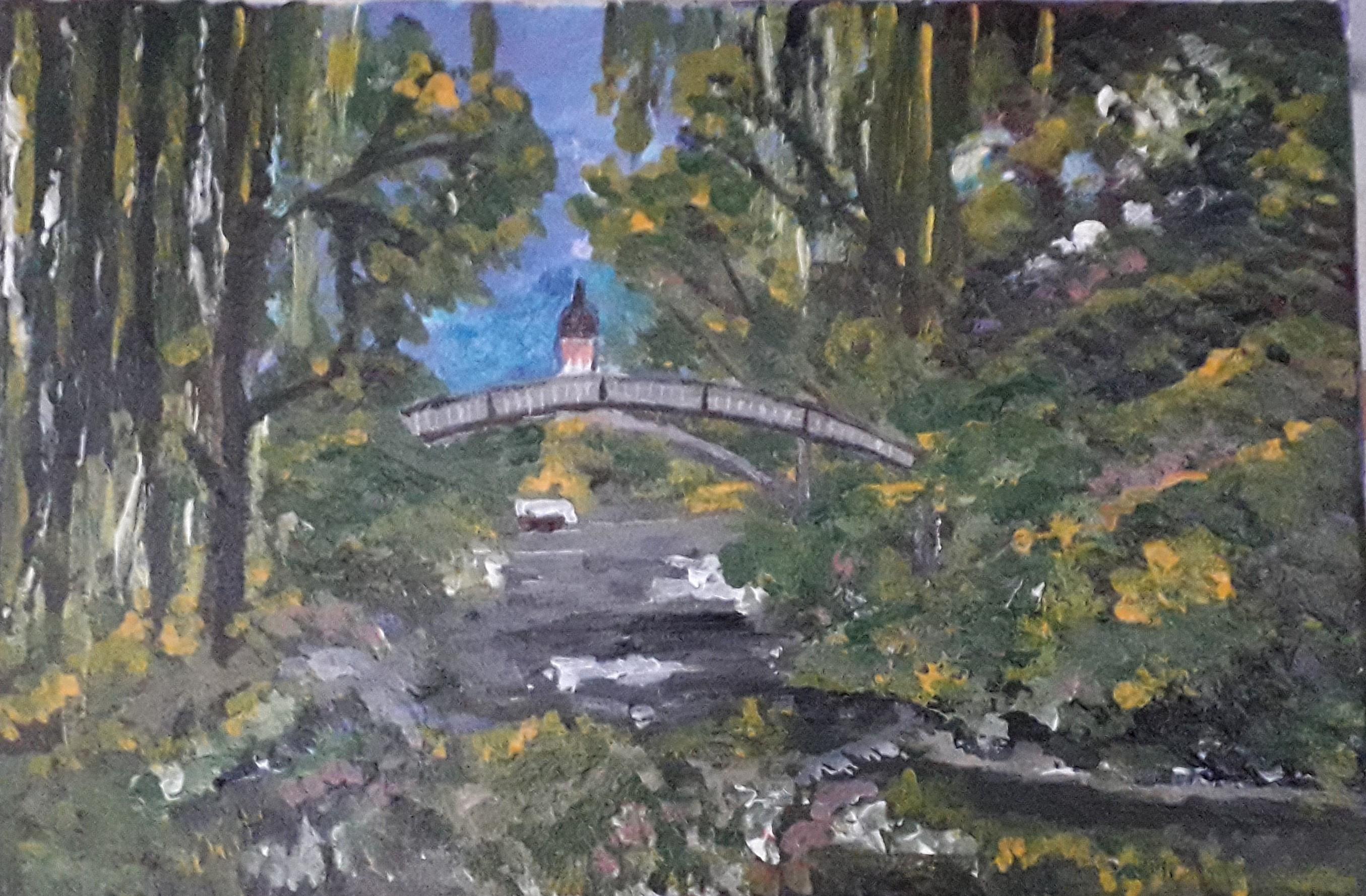 River and Walk Way - Frankfurt by Simpson David