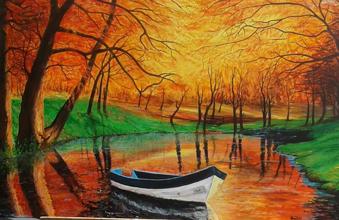 Boat by the Lake by Iranganie Wickramasinghe