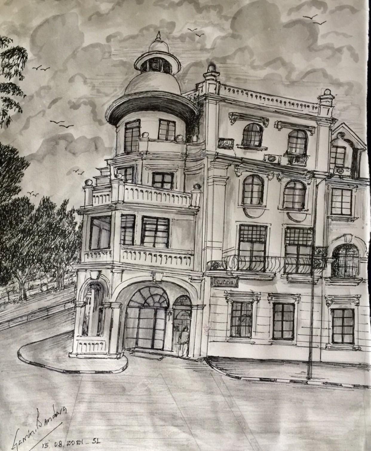 Famous Hotel in Kandy, Srilanka by Gamini Meegalla
