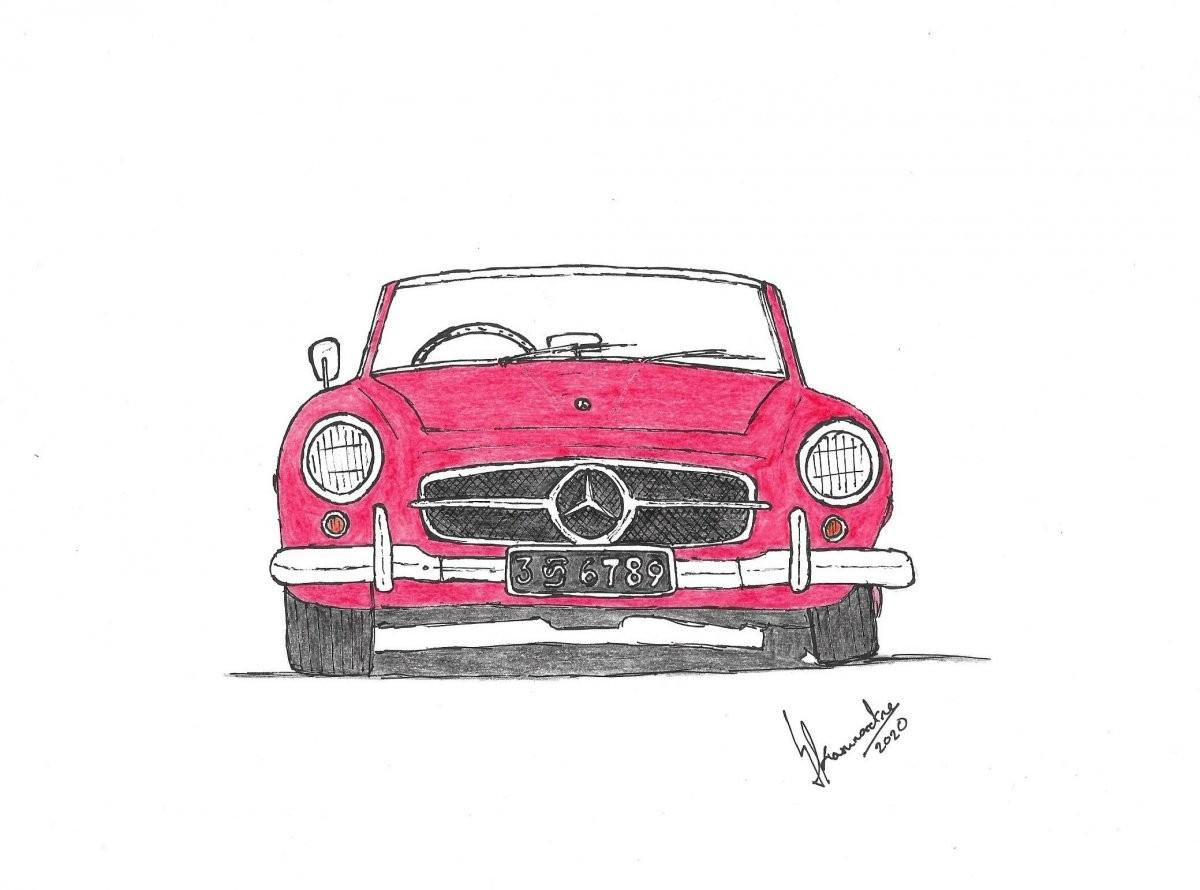 Mercedes-Benz 190 SL by Lahiru Karunaratne