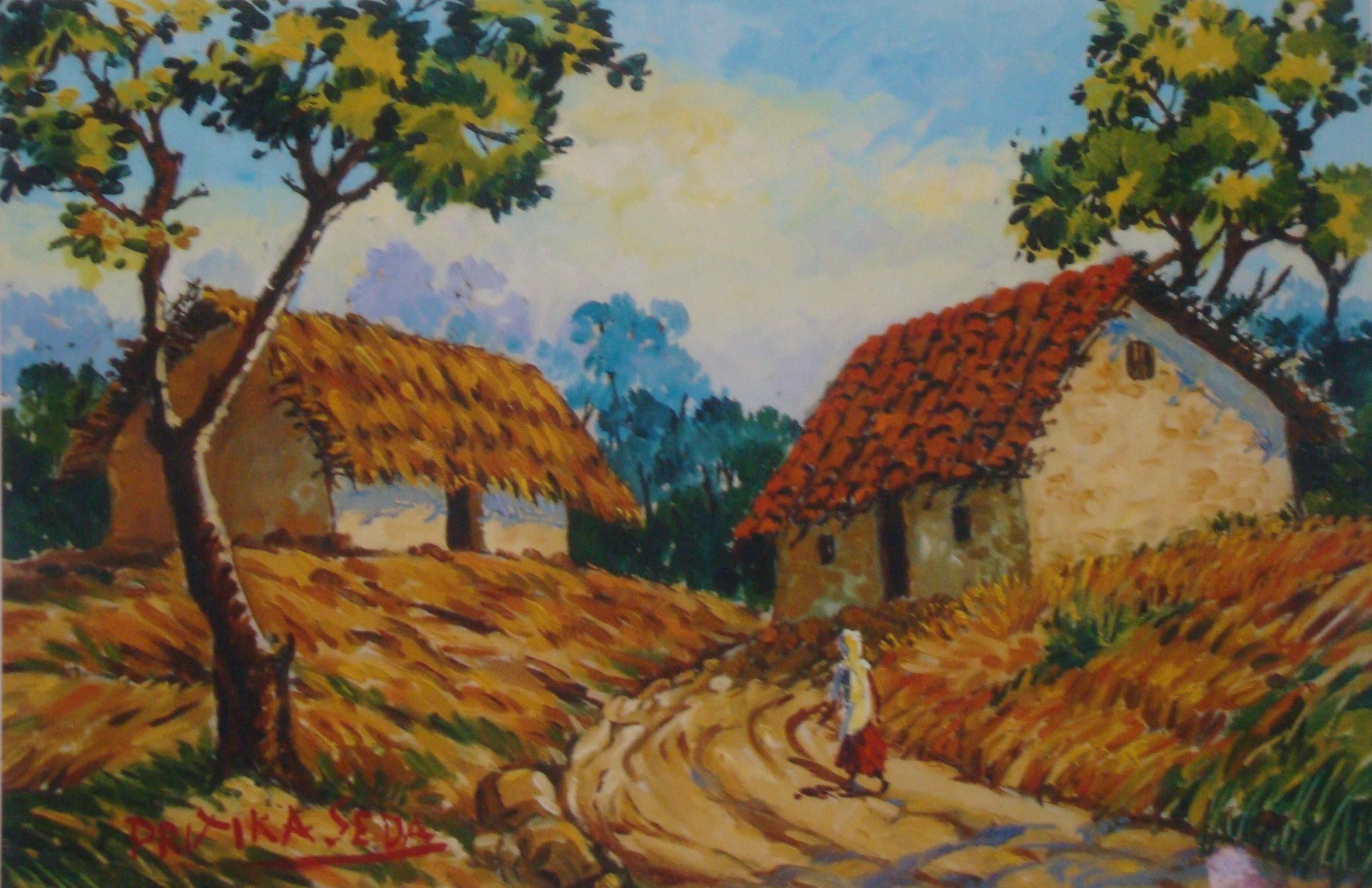 VILLAGE LANDSCAPE by PRITIKA SEDA