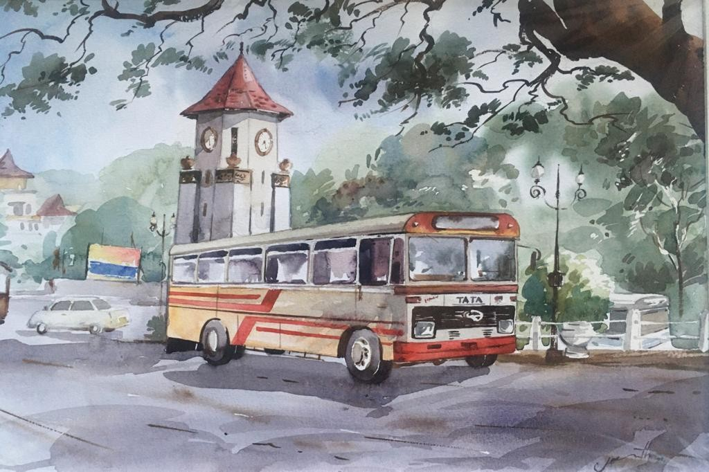 Kandy clock tower by Jeewantha Samarakoon