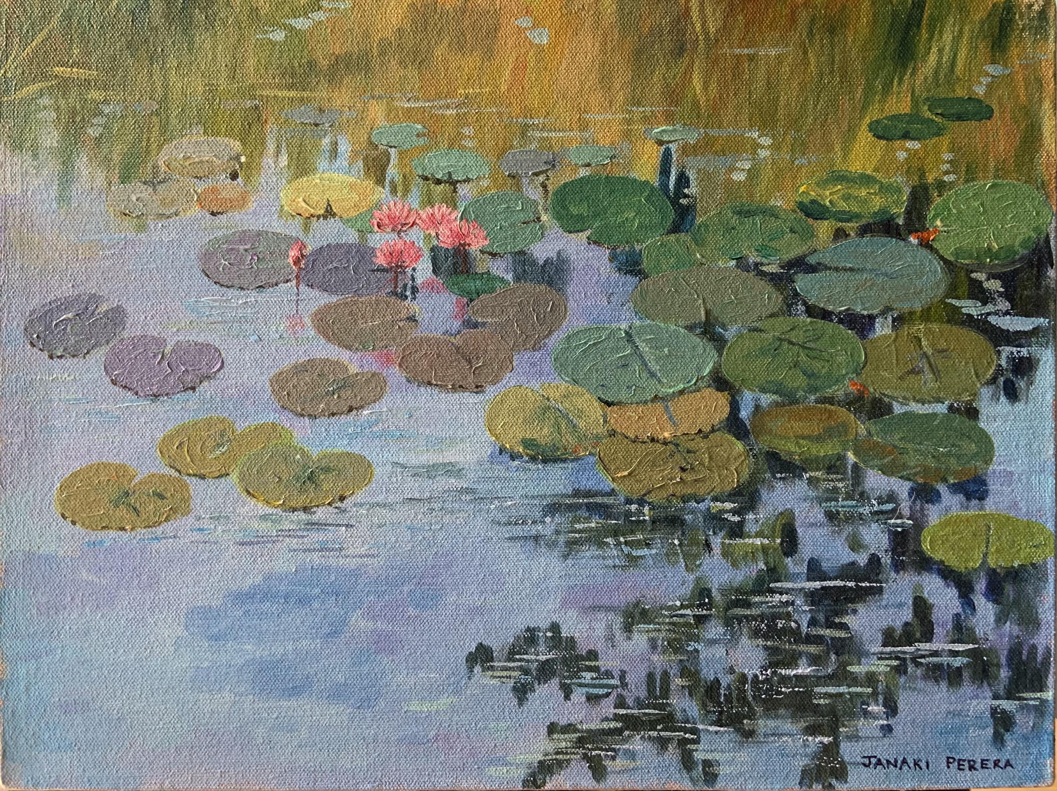 Lotus pond, Sri Lanka by Janaki Perera