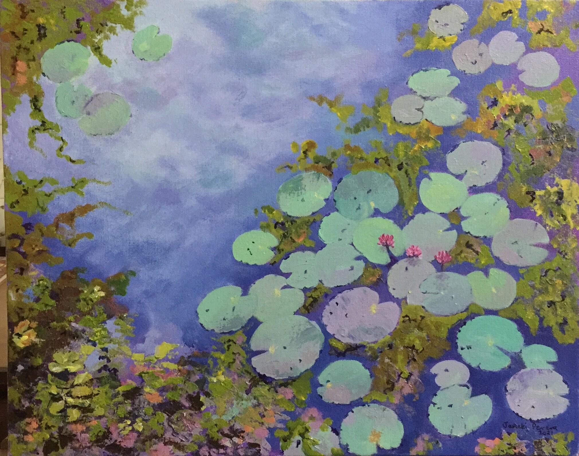 Diyawanna Oya lotuses by Janaki Perera