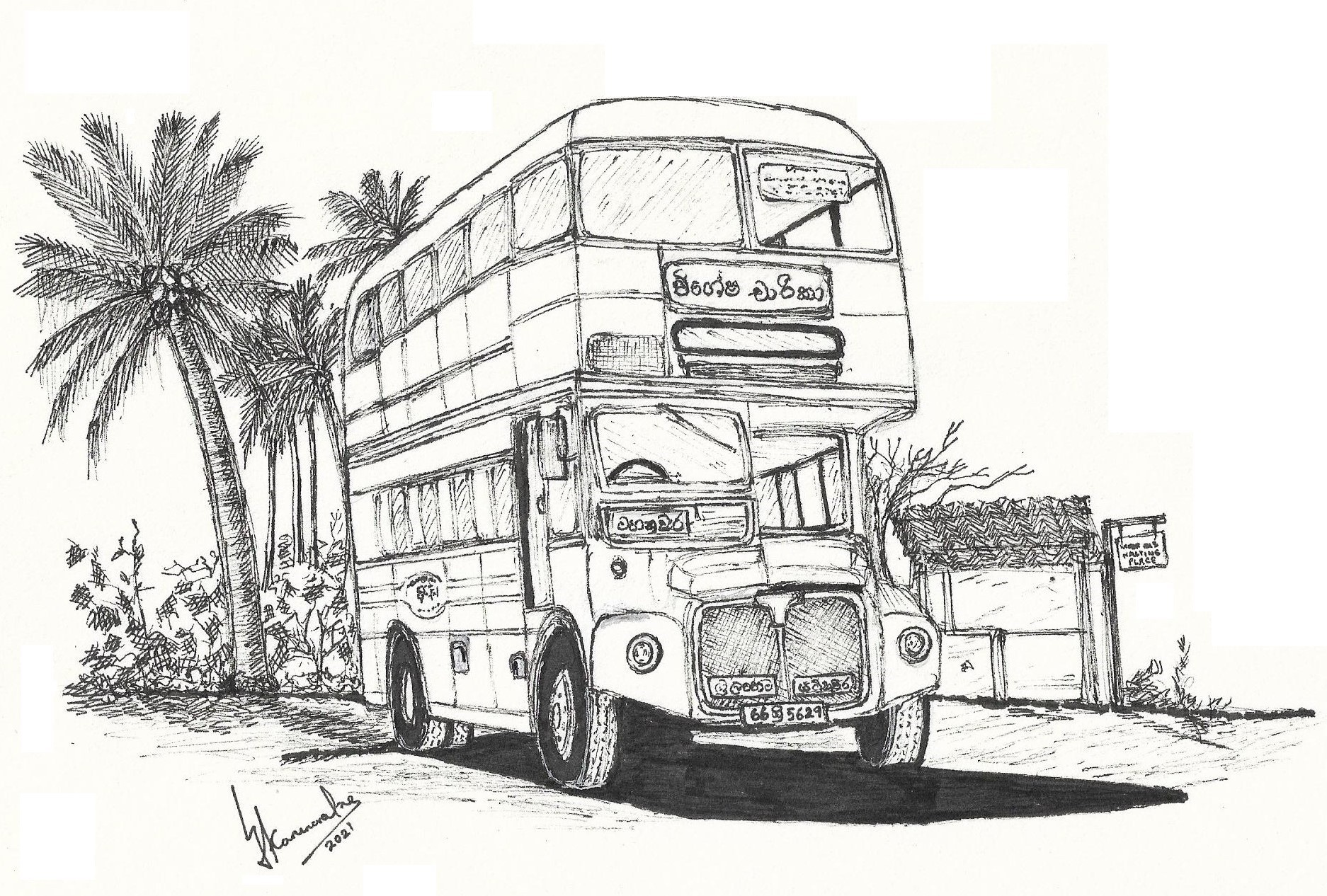Routemaster Bus in Ceylon by Lahiru Karunaratne