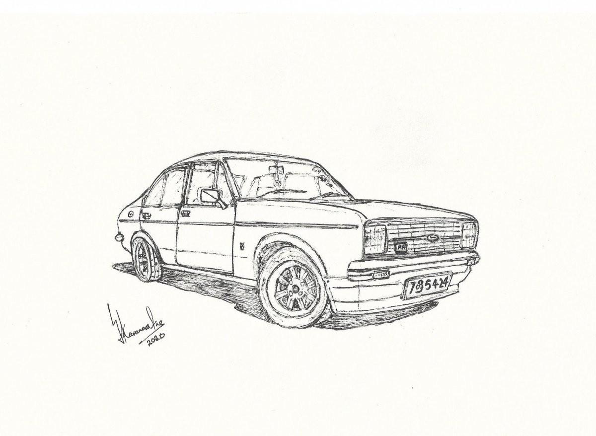Ford Escort Mk2 by Lahiru Karunaratne