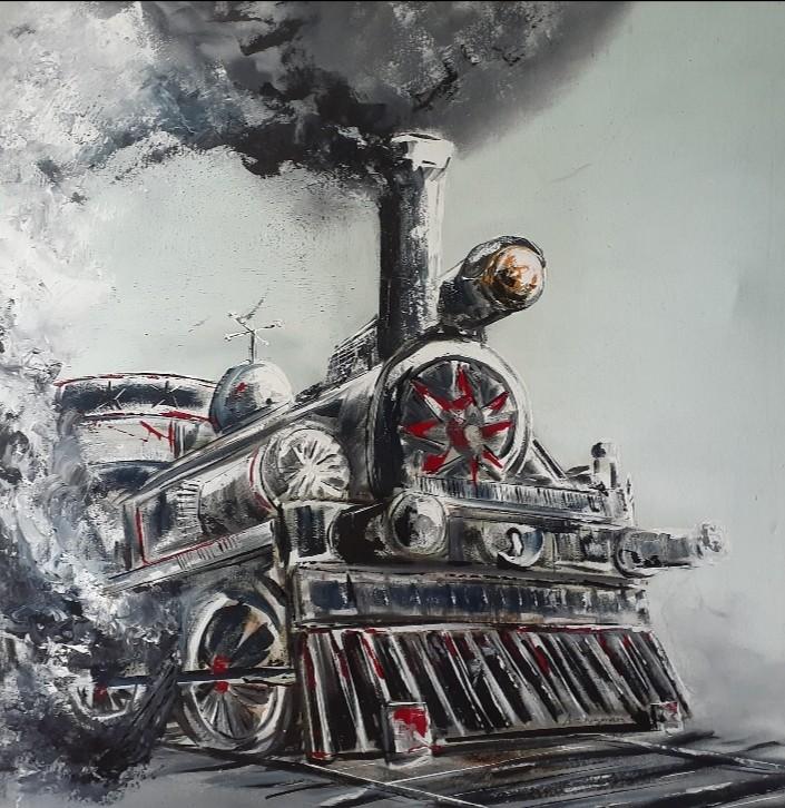Vintage Train 1 by AC Nuwan