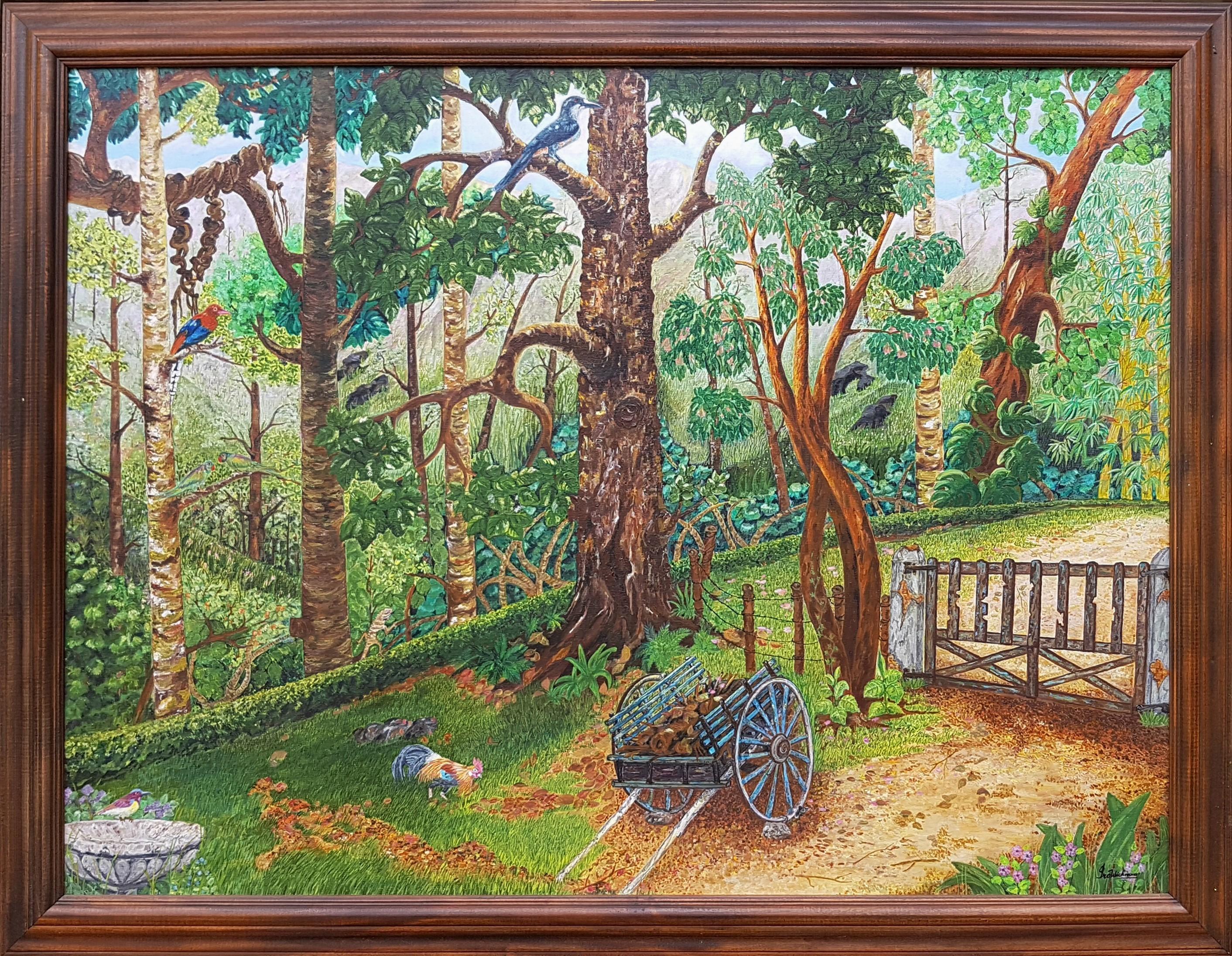 Bungalow backyard by Iranganie Wickramasinghe
