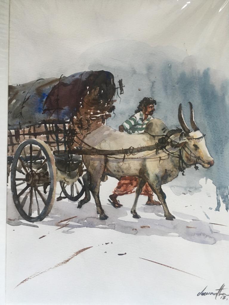 Bullock cart by Jeewantha Samarakoon