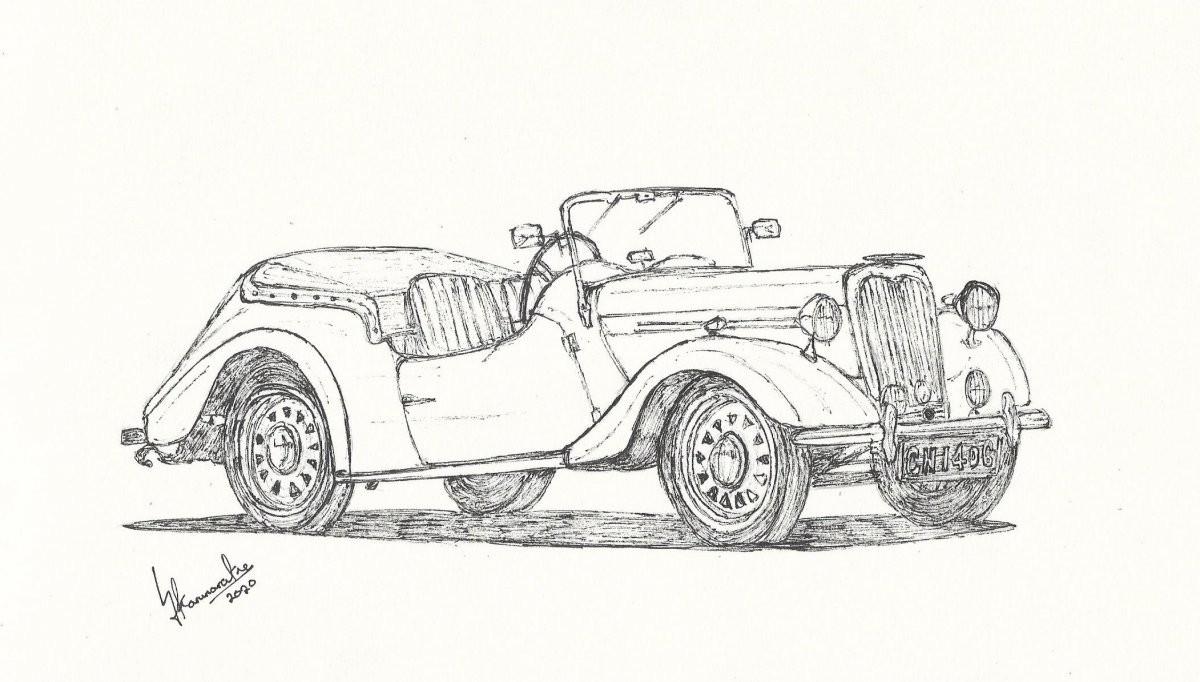 1950 Singer Nine Roadster by Lahiru Karunaratne