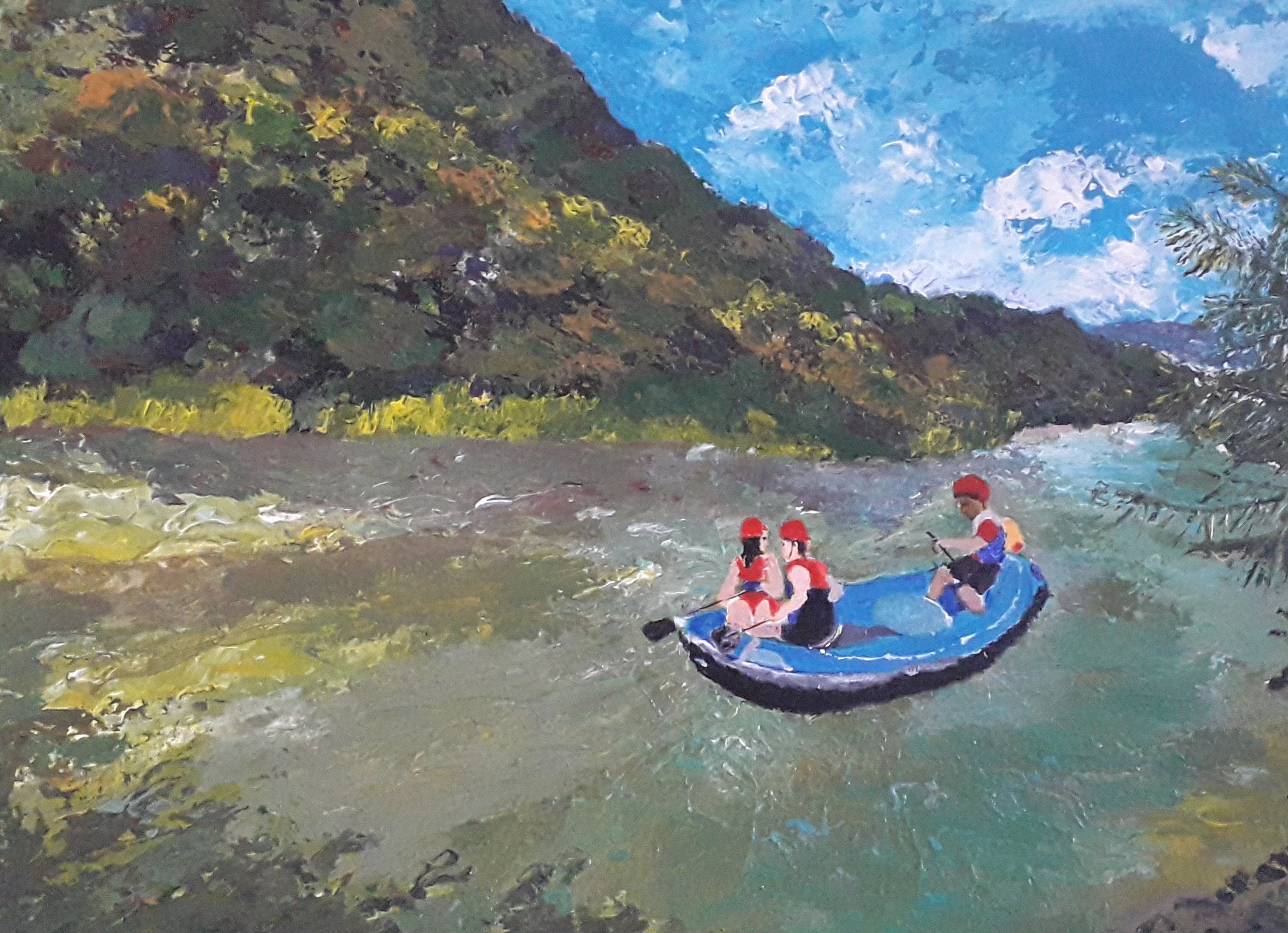 White Water Rafting by Simpson David