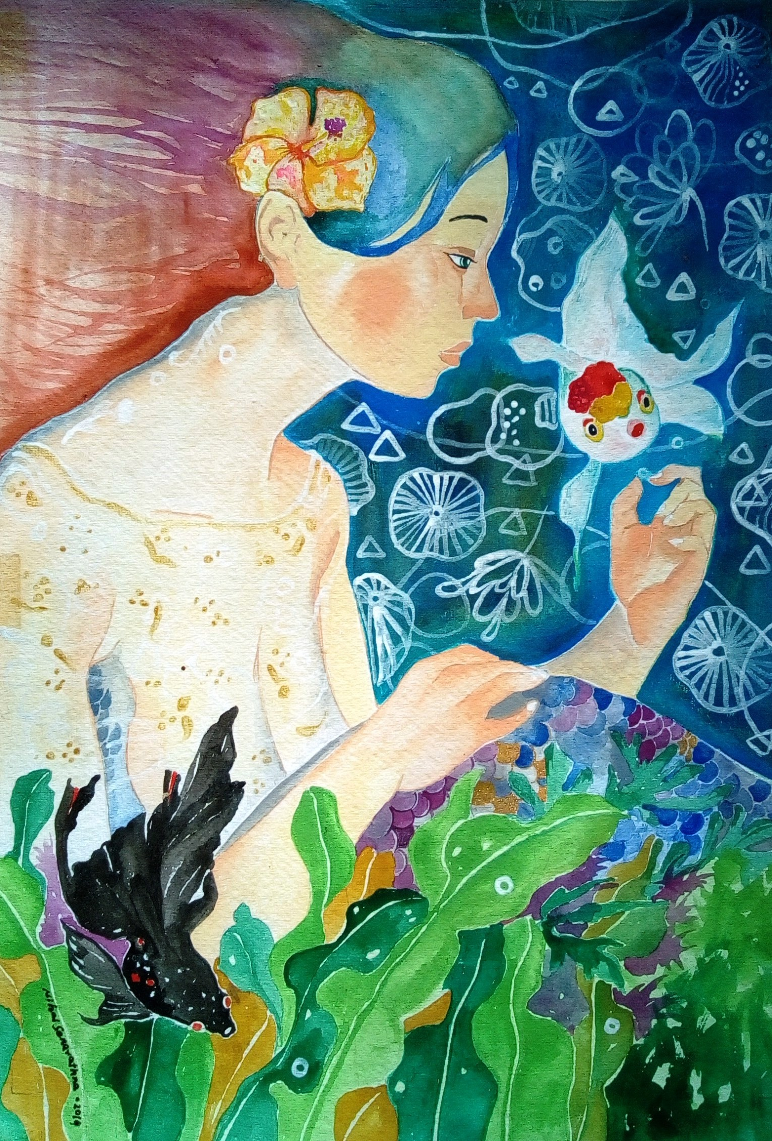 Little mermaid by Nihal Senarathna